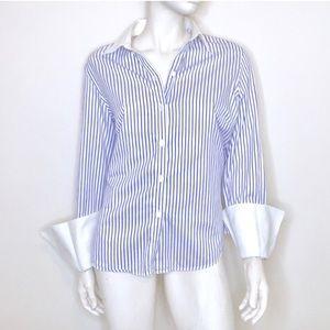 Brooks Brothers purple pinstripe buttondown shirt